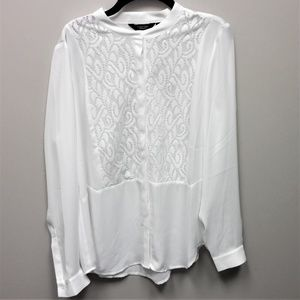 Simply Vera Wang White Laced Blouse